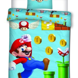 Nintendo - Super Mario dekbedovertrek let's play 140 x 200cm