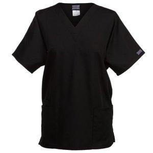 Cherokee – Tunique médicale à col en V – Femme (2XS) (Noir)