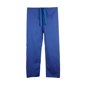 Pantalon medical unisexe reversible (XL, Bleu roi)