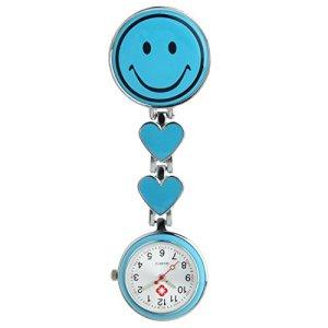 Collection&Joy infirmière Docteur Broche Tunique montre à gousset, Bleu clair