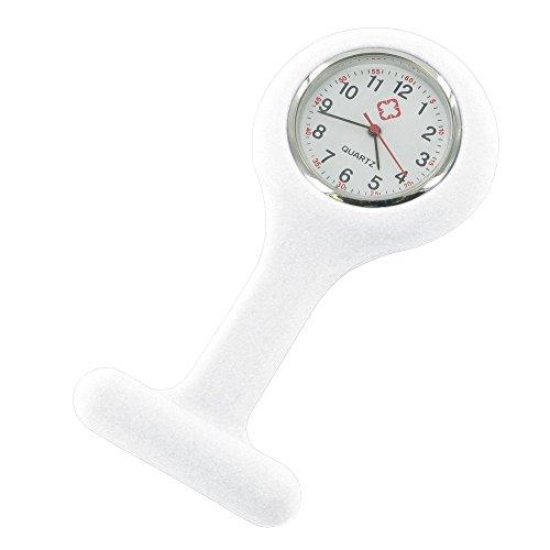 Montre infirmière Hopital idéal pour pulsation et lavage des mains coloris silicon blanc