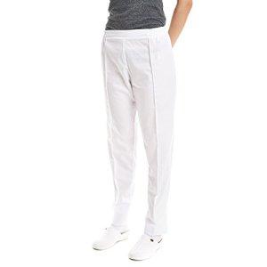 Pantalon medicale pour femme de travail (2XL, Blanc)