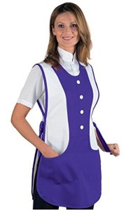 Tablier Médicale Kingston Violet Blanc