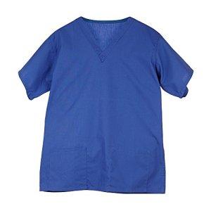 Blouse tunique médicale unisexe hôpital col V manches courtes Coton/Polyester-Couleurs Bleu roi- ciel- marine/ Framboise/ Vert/ Turquoise- Professions infirmière/ médecin/ dentiste/ vétérinaire/ santé