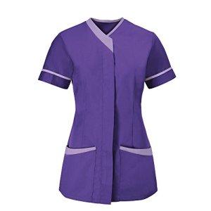 Alexandra – Tunique médicale – Femme (FR 42) (Violet/Lilas)