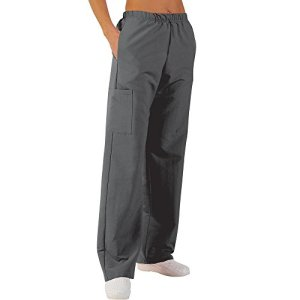 Pantalon médicale de travail taille élastiquée poches plaquées popeline 65/35 Dark grey 822 T5 -52/54