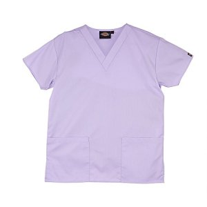 Tunique medicale a col en V Dickies unisexe (M) (Orchidee)