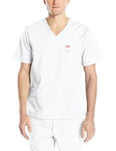 Blouse médicale, Orange Standard, Unisexe «Balboa» (G3107-) (S, Blanc)