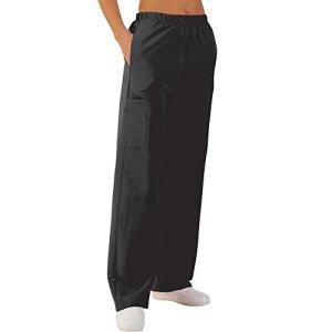 Pantalon médicale de travail taille élastiquée poches plaquées popeline 65/35 Dark 825 T1 – 38/40
