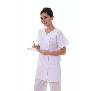 Texsan- Tunique infirmière col V-blanc-T00