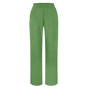 Adar Uniforms Pantalon médical cargo utilitaire taille naturelle Confort, 4Poches Jambes serrées – Vert – Large