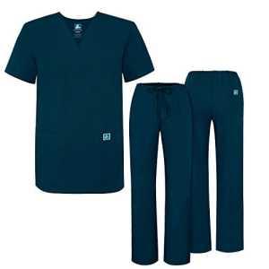 Adar Ensemble Uniformes pour Homme Blouse – Uniforme Médical avec Haut et Pantalon – 701_M Couleur: CBB | Taille: L