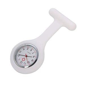 ZBBLJY Broche de Montre Infirmière de 2 Morceaux, Silicone avec Pin/Clip, Conception de Contrôle D'Infection, Infirmière Médecin de Soins de Santé, Ambulancier Médical Fob Watch,M1
