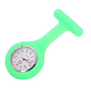 ZBBLJY Broche de Montre Infirmière de 2 Morceaux, Silicone avec Pin/Clip, Conception de Contrôle D'Infection, Infirmière Médecin de Soins de Santé, Ambulancier Médical Fob Watch,M10