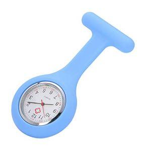 ZBBLJY Broche de Montre Infirmière de 2 Morceaux, Silicone avec Pin/Clip, Conception de Contrôle D'Infection, Infirmière Médecin de Soins de Santé, Ambulancier Médical Fob Watch,M7