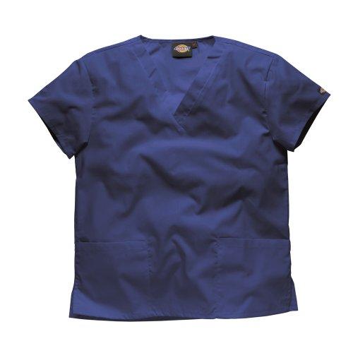 Dickies Workwear Chemise de médecin avec 2poches et col en V – bleu – S