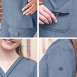 Adar Uniforms P4212HNVYL Chemise de Brosse médicale, Bleu Marine chiné, L Femme