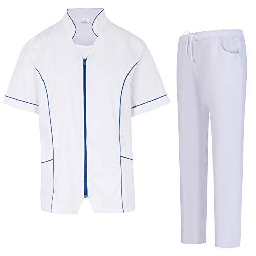 Misemiya – Uniforme Médical avec Haut et Pantalon Uniformes Médical Femme Manches Courtes – Ref.702Q8 – X-Small, Bleu