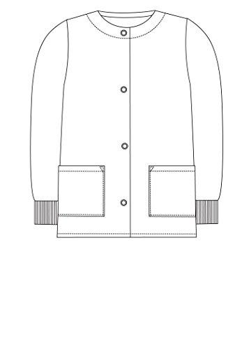 Adar Universal Veste Infirmière – Blouse Chaude à Col Rond – 602 – Royal Blue – XL