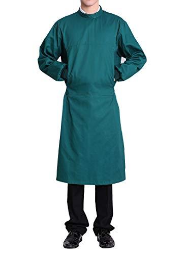 Nanxson Blouse Médicale Unisexe Uniforme de Labo Médecin Opération en Coton ME0002 (L, Vert)