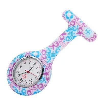 Tunique médicale en silicone pour infirmière, montre à quartz, montre à pile, broche étanche, montre de poche pour personnel médical, infirmière