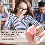 UKCOCO Infirmières Montre Infirmiers Clip Montres Chat Patte en Forme de Numérique Fob Montres de Poche Suspendu Broche sur Broche Fob Montre pour pour 2021 Étudiants Diplômés Cadeaux