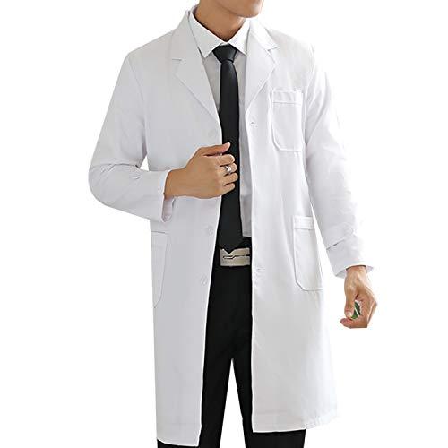 WhiFan Blouse de Laboratoire,Blouse de médecin pour Femme Hommes,Blouse de médecin, Adaptée aux étudiants,Laboratoire Scientifique, Infirmière,Cosplay