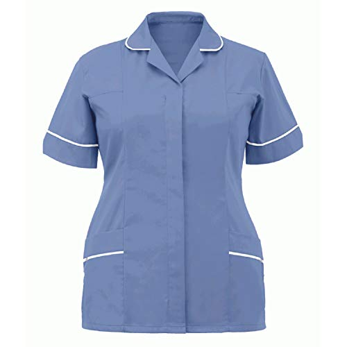 yiouyisheng Vêtement de travail pour femme – uniforme d'infirmière – Col en V – Tunique à enfiler – Avec poches – Pour infirmière – Vêtement professionnel de nettoyage – Multicolore – Taille Unique