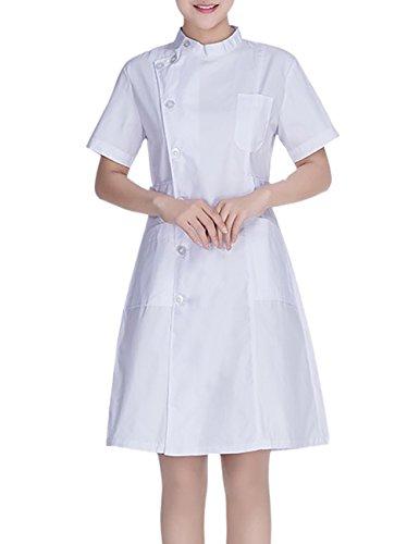 THEE Uniforme Médical Professionnel Blouse Blanche Chimie Infirmière Laboratoire