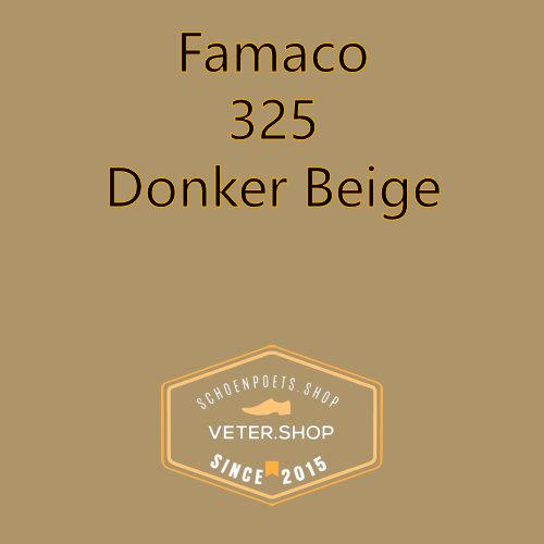 Famaco leer onderhoud Kleur 325 donker beige