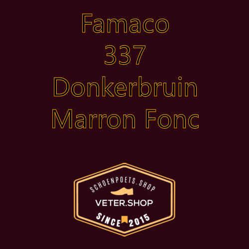 Famaco leer onderhoud Kleur 337 donkerbruin
