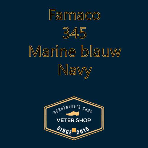 Famaco leer onderhoud Kleur 345 Marine