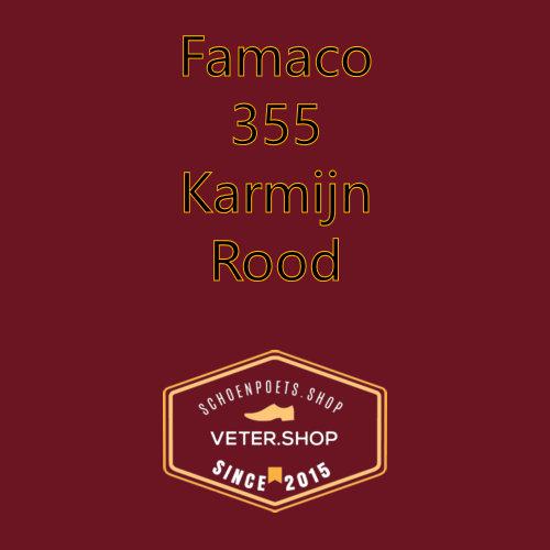 Famaco leer onderhoud Kleur 355 Karmijn rood