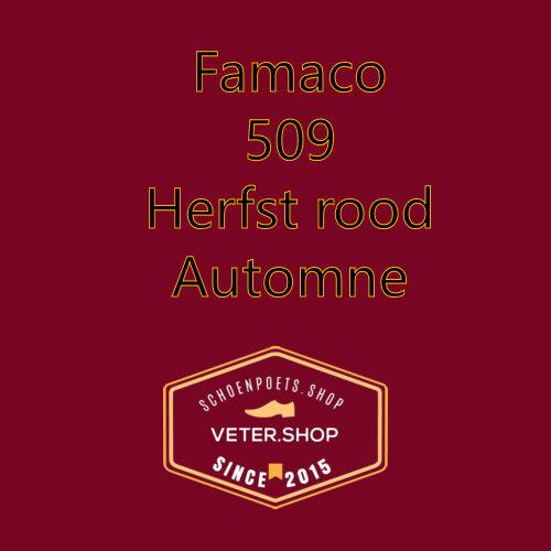 Famaco leer onderhoud Kleur 509 Herfst rood