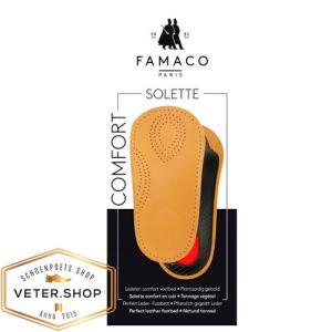 Inlegzooltjes Comfort - Famaco driekwartzool solette