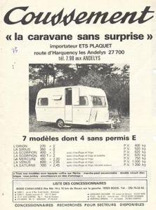 Annonse for Coussement fra 1975. BL