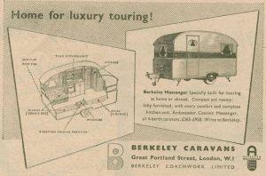 Berkeley annonse fra 1951. BL
