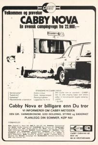 Cabby annonse fra 1977. BL