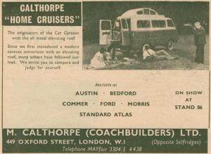 Calthorpe annonse fra høsten 1960. BL