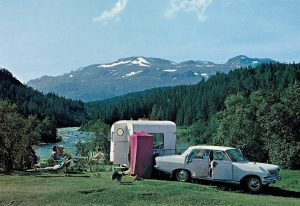 Camping Vang i Valdres. 60-tallet.