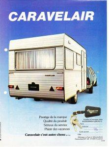 Caravelair annonse fra 1976. BL
