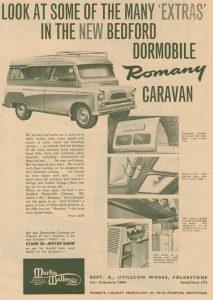Dormobile annonse fra 1961.BL