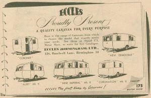 Eccles annonse fra høsten 1953. BL