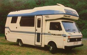 En Camper Italia basert på VW LT fra begynnelsen av 1980-tallet. BL