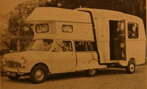Et utklipp av en litt spesiell bobil basert på Mini med betegnelsen Caraboot fra 1967. BL