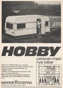 Hobby annonse fra 1977. BL