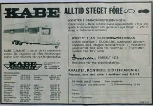 Kabe annonse fra 1973. BL