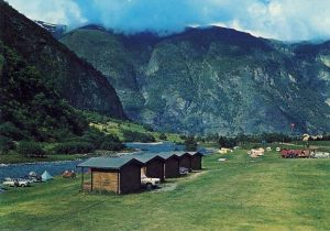 Lunde Camping, Aurland. 60-tallet