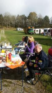 NVC representert på treff med oss med gamle vogner og bobiler på Seleter Camping I Strømstad.