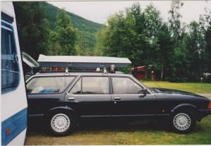 Odin Jonassen: Husker ikke om jeg har lagt ut denne tidligere ... Hadde disse på 90 tallet en gang Adria 520 og Granada 2,3 automatic .... den drakk fælt ... 2 liter på mila